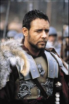"Russell Crowe in ""The Gladiator"", Ridley Scott, dir. Gladiator 2000, Gladiator Movie, Gladiator Maximus, Gladiator Armor, Russell Crowe Gladiator, Ridley Scott, Movie Costumes, Ancient Romans, Film Stills"