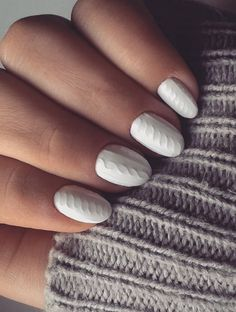 Try out sweater nails this Christmas by recreating your cable knit sweater.
