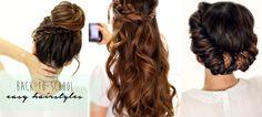 4 easy back to school hairstyles - hair tutorial for long hair 2