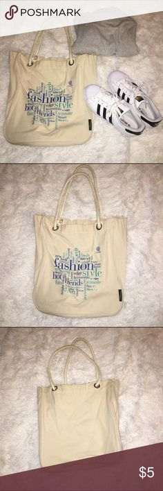 Fashion Word Cloud Eco Smart Tote Bag This tote is a perfect reusable bag for the grocery store or travel! And, a fun word cloud is on the front - bonus!! Material and steps are very durable. Your new reusable, go to tote bag! Gently used. New condition. Eco Smart Bags Totes