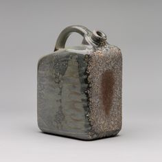 Gas Can #25 by Darren Cockrell / Spun Smoke Ceramics / Anagama Wood-Fired Porcelain / $400 #spunsmoke #ceramics