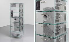 Design duo Formafantasma embraces the aesthetics of electronic waste in a new body of work titled 'Ore Streams', addressing issues of recycling and consumption. Furniture Collection, Bathroom Medicine Cabinet, Locker Storage, Recycling, Scrap, Technology, Objects, Design, Aesthetics