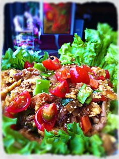 Our shredded Rotisserie chicken salad w/ oyster sauce and toasted sesame seeds - brought to you by our deli chef de partie