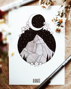 instagram @dinasaurus.art Donia, Marker Art, Pretty Art, Doodle Art, Cool Drawings, Art Pictures, Art Inspo, Line Art, Painting & Drawing