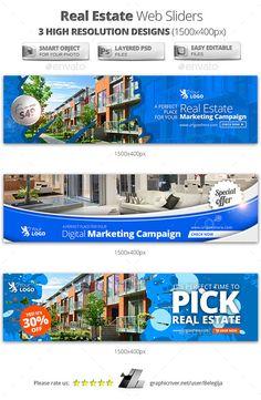 Real Estate Web Sliders Template PSD. Download here: http://graphicriver.net/item/real-estate-web-sliders/11867475?ref=ksioks
