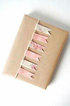 Washi tape #giftwrap idea