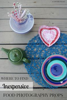 Where to Find Inexpensive Food Photography Props. 5 places to look for items to make your blog photos pop!