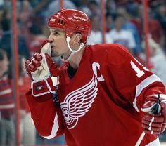 Steve Yzerman : Steve Yzerman: Hall of Fame player to the NHL's best GM Detroit Hockey, Detroit Sports, Hockey Logos, Hockey Players, Sports Logo, Sports Art, Sports Teams, Steve Yzerman, Red Wings Hockey