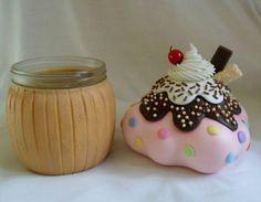 Pote cupcake   Art Minha - Biscuit   Elo7