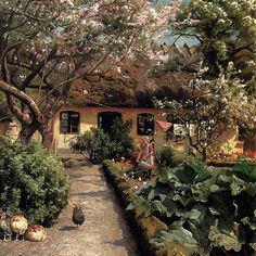 Monsted Peder Watering The Garden