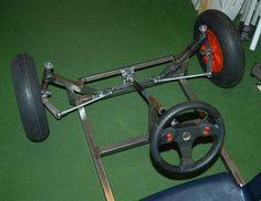Resultado de imagen para homemade go kart steering Karting, Cycle Kart, Go Kart Steering, Soap Box Derby Cars, Homemade Go Kart, Go Kart Plans, Diy Go Kart, Go Car, Drift Trike