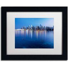 Trademark Fine Art Vancouver City Reflection Canvas Art by Pierre Leclerc, White Matte/Black Frame, Size: 16 x 20, Multicolor