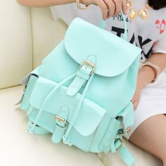Casual College Style Mint Green Backpack|Fashion Backpacks - Fashion Bags- ByGoods.com