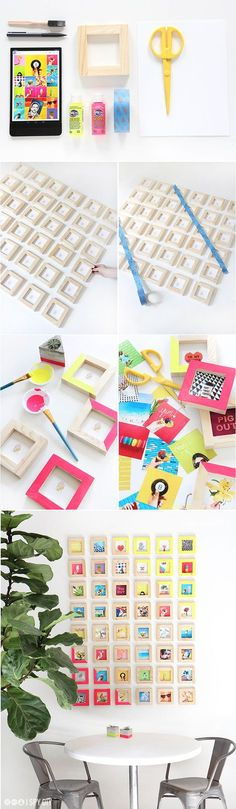#DIY your own tiny picture gallery wall! Perfect for frequent Instagrammers.