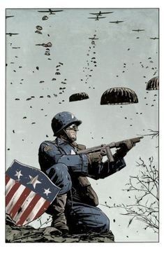 WW 2 Captain America by Mitch Gerads Captain America Pictures, Captain America Art, Marvel Art, Marvel Heroes, Bucky, Comic Book Artists, Comic Books, Mitch Gerads, Capitan America Marvel