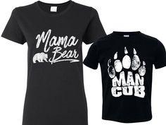 Man Cub Shirt, Mother and Son Matching Shirts, Womans Lg Shirt & Youth Small 6-8