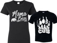 Man Cub Shirt, Mother and Son Matching Shirts, Womans Lg Shirt & Youth Small 6-8