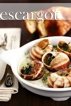 Escargot with a Splach of Cognac. Escargot A Splash of Cognac. Unique Recipes, Asian Recipes, Healthy Recipes, Ethnic Recipes, Escargot Recipe, Lobster Recipes, French Dishes, Garlic Butter, Kitchen Recipes