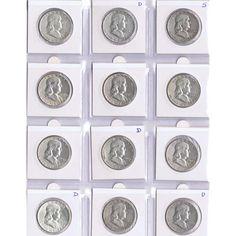 Colección 30 monedas de plata EEUU 1/2 Dollar Franklin., Tienda Numismatica y Filatelia Lopez, compra venta de monedas oro y plata, sellos españa, accesorios Leuchtturm