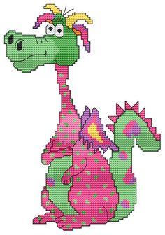 Cross Stitch Craze: Cute Dragon Cross Stitch: