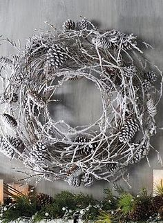 Add a snowy touch to your holiday decor with the Snowy Pinecone Wreath that will add beauty and cheer to your door or above your mantle.