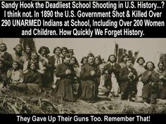 WOUNDED KNEE... History repeats itself especially when it's not taught in school. / Read: I Buried My Heart at Wounded Knee.