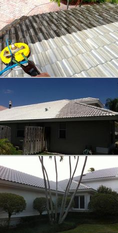 This business sends their crew for safe roof cleaning services. They clean roofs, screen enclosures, sidewalks, walls, patios, and driveways.