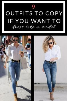 Want to know how to dress like a model? Well here are 9 model off duty outfits you can copy! #outfitideas #fashion