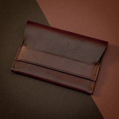 Handmade Full Grain Leather Cardholder Minimalist Wallet