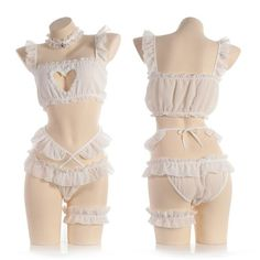 Love Live Kawaii Kitty Cat Hollow Heart Anime Cosplay Underwear Set Japanese Baby Doll Lolita Lace Lingerie Pajamas Bikini | Wish Pastel Goth Outfits, Edgy Outfits, Cute Outfits, Fashion Outfits, 2000s Fashion, Fashion Today, Fashion 2020, Bikini Outfits, Lingerie Outfits
