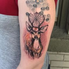 nice Watercolor tattoo - Watercolor Deer tattoo by Capone