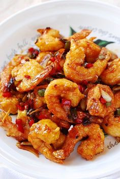 Kkanpung Shrimp is a deep-fried shrimp dish glazed in a sweet, slightly sour and spicy sauce. It's a popular Korean-Chinese dish that can be easily made at home!