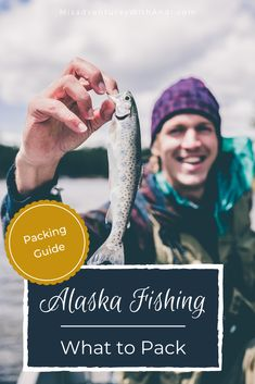 What to pack for an Alaskan trip? Or more specifically an Alaskan fishing trip? Layers and wet gear and a hat! But dont forget the after-fishing part in the lodge you need comfy clothes for lounging and telling your fish stories! Usa Fishing, Alaska Fishing, Fishing Tips, Alaska Usa, Alaska Travel, Florida Travel, Travel Usa, Canada Travel, Packing Tips For Travel