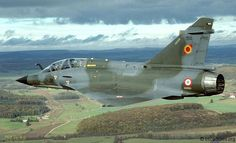 French Armée de l'Air 1995 - One of the curiosities of the time: Dassault Mirage 2000N-K2 of 2/3 Champagne (= non-nuclear). The N suffix usually denoted nuclear capable aircraft and trained crew.