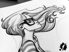 Dibujo de chica / girl drawing