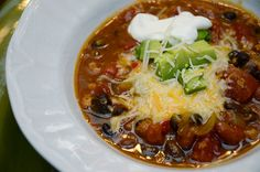 Slow Cooker Spicy Pumpkin Chili #fall #winter