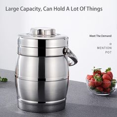 Food container thermos made of stainless steel 1.4L-3L Lunch Box Containers, Barware, Eco Friendly, Stainless Steel, Canning, Home Canning, Conservation, Tumbler