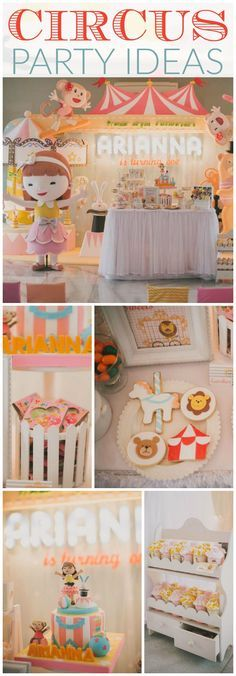 You have to see this amazing circus girl birthday! See more party ideas at CatchMyParty.com!