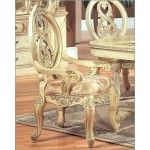 McFerran Home Furnishings - Traditional Arm Chair in White (Set of 2) - MCFD6009-A