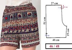 Check Out These Outstanding DIY Skirt Ideas and How to do them Sewing Shorts, Sewing Clothes, Diy Clothes, Dress Sewing Patterns, Sewing Patterns Free, Clothing Patterns, Fashion Sewing, Diy Fashion, Fashion Outfits