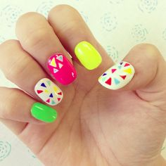 Colorful Triangle Nails