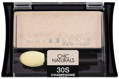 Maybelline New York Expert Wear Eyeshadow Singles 30s Champagne Fizz Chic Naturals 009 Ounce *** Check out this great product.