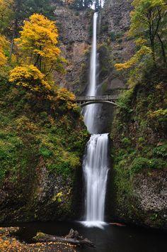 Multnomah Falls,Oregon,USA: