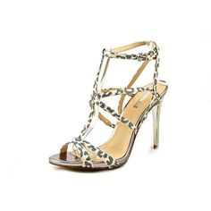 Guess Carnney 3 Open-Toe Canvas Heels => Startling review available here  : Block heel sandals