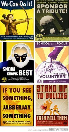 Hunger Games Propaganda Posters…