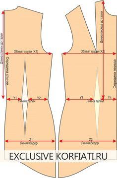 Выкройка-основа платья для скачивания