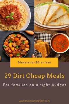 Simple, affordable, and tasty dinner ideas your family will thank you for.  Tacos - Quesadillas - Grilled Cheese - Stew - Stir Fry.  Dirt cheap meals for each and every week. Pasta Sauce Ingredients, Rice Ingredients, Dirt Cheap Meals, Cheap Family Meals, Low Budget Meals, Elbow Pasta, Good Food, Yummy Food, Frozen Vegetables
