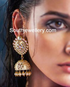 meenakari jhumkas Traditional Indian Jewellery, Indian Jewelry, Latest  Jewellery, Jewellery Designs, Modern 1c503dfa83f