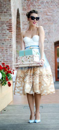bling bling print skirt