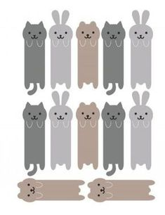 marque page animaux Diy Crafts For Girls, Diy Arts And Crafts, Diy For Kids, Cute Bookmarks, Bookmark Craft, Diy Marque Page, Paper Art, Paper Crafts, Bookmark Printing